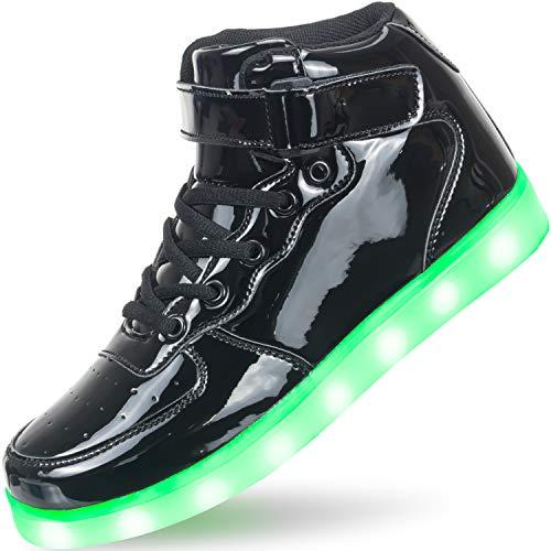APTESOL Kids Youth LED Light Up Sneakers Unisex Boys...