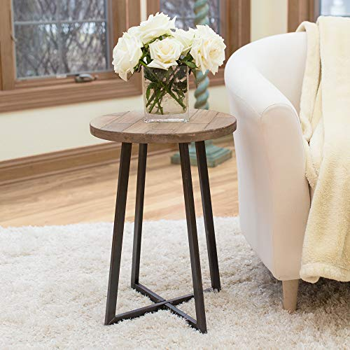 """FirsTime & Co. Miles Rustic Table, 22""""H x 16""""W x 16""""D, Natural Wood"""