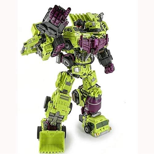 Optimus Prime Spielzeug Transformers Engineering Devastator Green Combiner GT Engineering Devastator Combiner 6 en 1 Aleación Metal Toys Figure Figura de Acción Camión de Coche Regalo Para Niños Niños