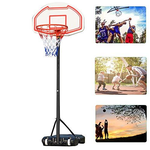 DT Kinder Einstellbar Basketballkorb Mit Ständer Tragbar Korbanlage Outdoor Basketballanlage Höhenverstellbar Für Kinder Erwachsene Drinnen Draußen Mit Rädern Einstellbar