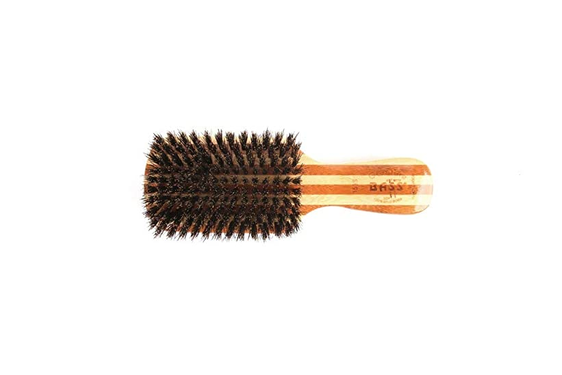 中性浮浪者敬意を表するBass Brushes, Classic Men's Club (soft) 100% Wild Boar Bristles, Wood Handle, 1 Hair Brush
