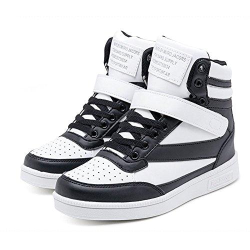 Zapatillas de Cuña Mujer Deportivos Elevador Interior Talón Plataforma 7cm Altas para Tacón Zapatillas de Deporte
