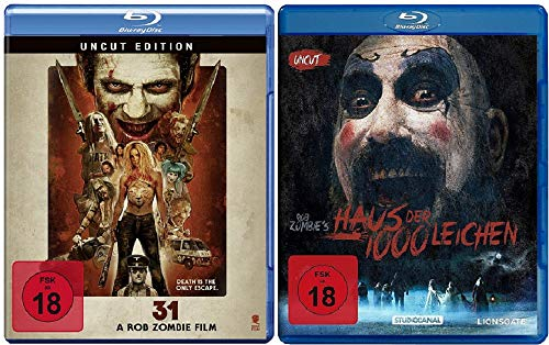 31 - A Rob Zombie Film Uncut + Haus der 1000 Leichen Uncut [Rob Zombie Blu-ray Set]