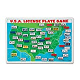 Melissa & Doug U.S.A. License Plate Game (Wooden 'Flip to Win' Travel...