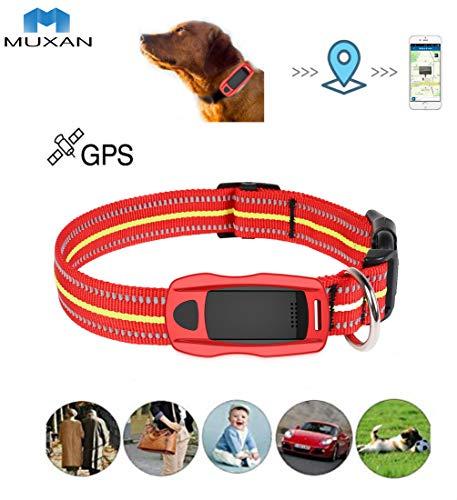 Muxan Mini WiFi GPS Tracker suivi en temps réel Traceurs GPS traqueur GPS + LBS + WIFI pour Chat Chien-Convient aux grands animaux