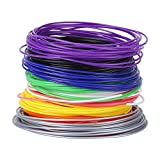 Filamento PCL de Pluma 3D Recargas de Filamento de 10 Colores Filamento de 1.75mm de Baja Temperatura para Pluma de Impresión 3D