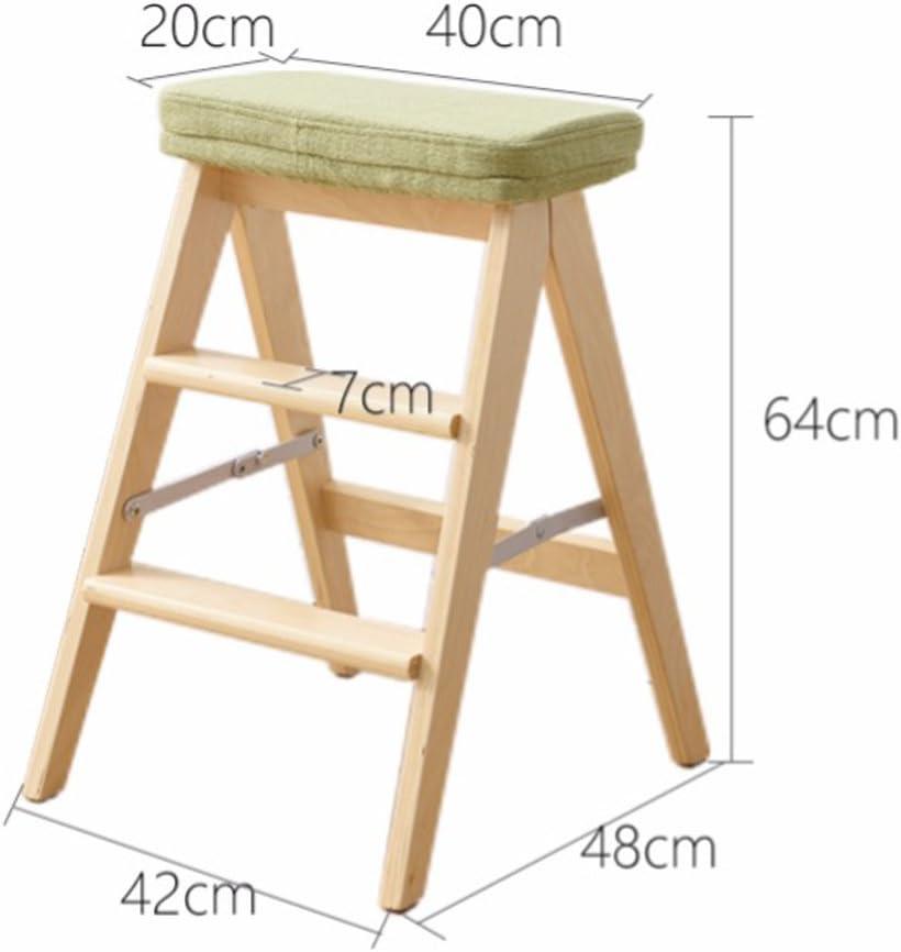 SLL- Tabouret pliant en bois massif maison échelle tabouret simple moderne pliant tabouret Fauteuils et Chaises (Color : C) C