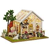 Cuteroom DIY Holz-Puppenhaus, handgefertigt, Miniatur-Kit, Sonnenschein, Gewächshaus, Modell &...
