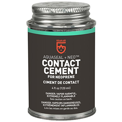 GEAR AID Aquaseal NEO Contact Cement for Neoprene and Wetsuit Repair, 4 fl oz, Black