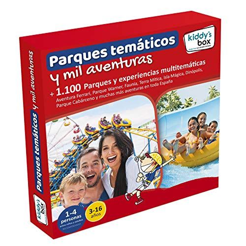 KIDDY'S BOX Cofre DE EXPERIENCIAS Parques TEMÁTICOS Y MIL Aventuras - 1.100 Parques y experiencias multitemáticas en Toda España.