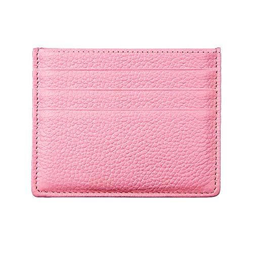 Hibate (Rosa) Mini Cuero FRID Tarjetero Fundas para Tarjetas de Crédito Cartera Hombre Mujer Señoras Niña Niño Piel Billetera