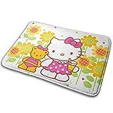 yunyang Cartoon Cute Hello Kitty - Alfombras para interior y exterior para baño o cocina - Alfombrilla antideslizante - Rasqueta para zapatos