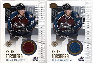 2002-03 Pacific Calder Jerseys #7 Peter Forsberg Game-Worn Jersey Card - Colorado Avalanche