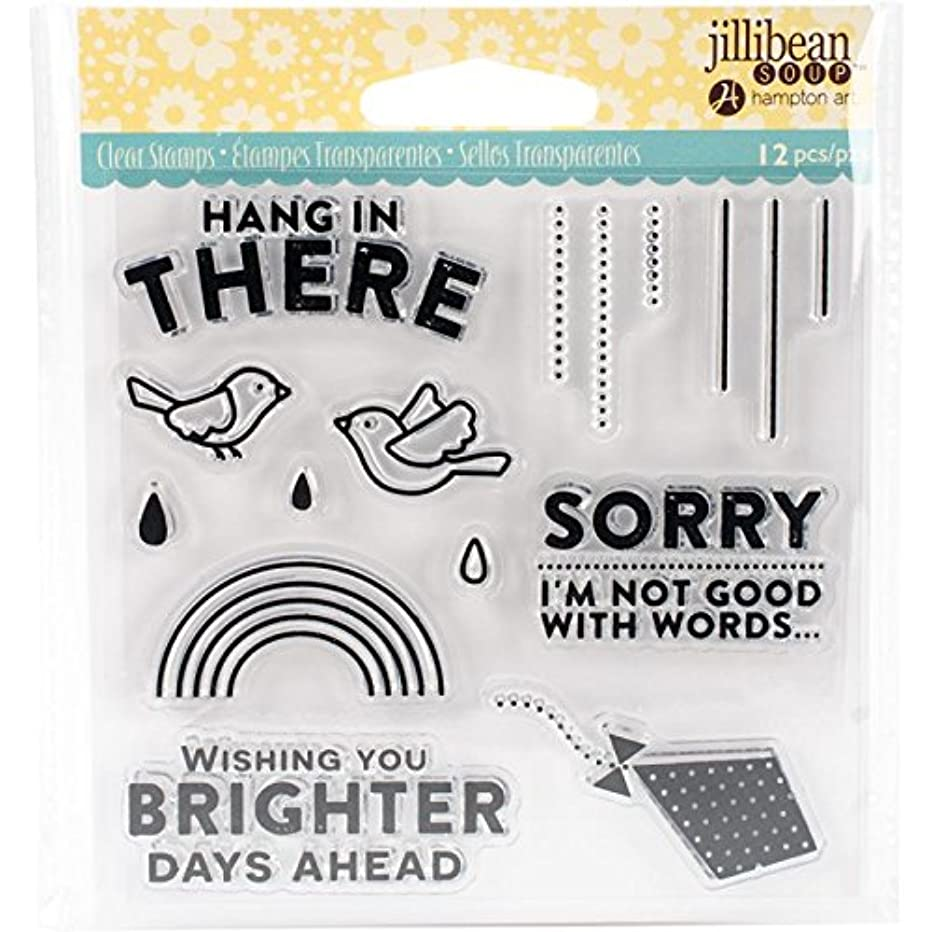 Hampton Art Hang in There Stamp, Clear