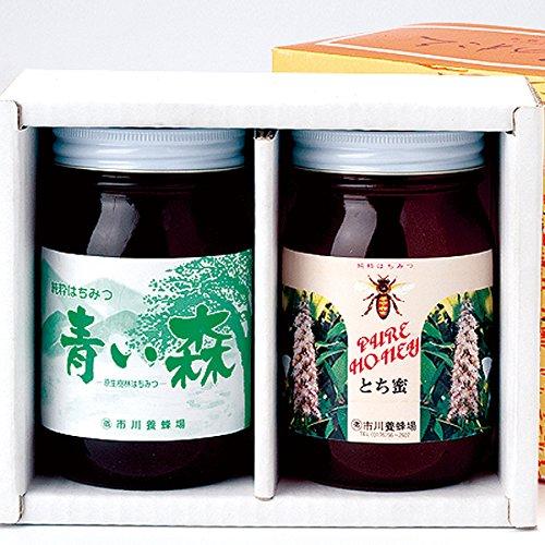 青い森の蜂蜜詰合せ (とち蜂蜜・原生林蜂蜜 600g×各1)【送料込】