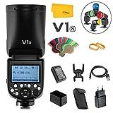 Godox V1N Round Head Flash Speedlight 2.4G TTL 1/8000 HSS for Nikon Fotocamera con 2600mAh...