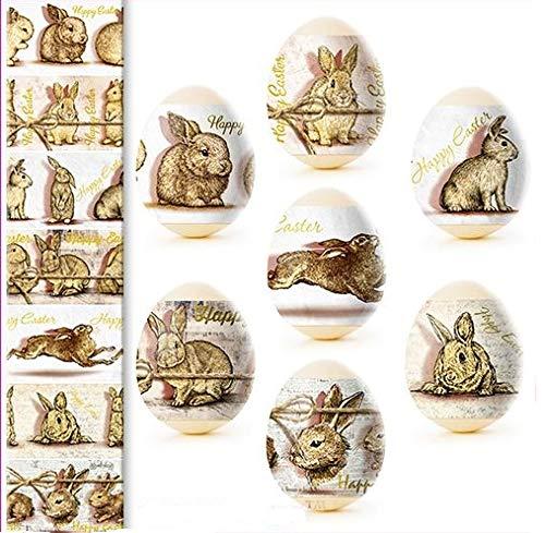 ukrainisches-kunsthandwerk Ostereier Folie. Gold Hasen Nr. 90 reicht für 7 Eier. In Wirklichkeit sind die Farben viel intensiver als au dem Bild