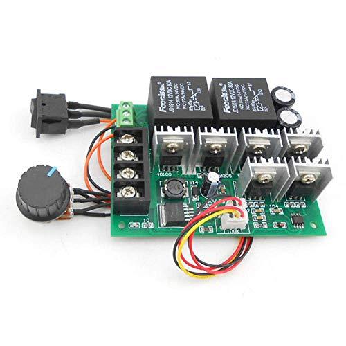RUIZHI Controlador de motor de CC, DC 9-50V 40A Control de velocidad del motor de CC Controlador PWM reversible 12V 24V 36V 48V 2000W Interruptor de retroceso delantero