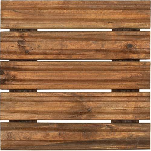 Dalle de terrasse en bois teinté motif droit 50