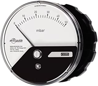 Wika 52294978 Polycarbonate Low Pressure Differential Pressure Gauge with Surface Mount, Type A2G-10, -2.0/2.0