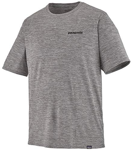 Patagonia M's Cap Cool Daily Graphic T-Shirt pour Homme S Gris (p-6 Logo: Feather Grey)