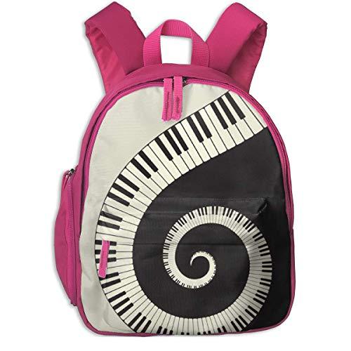 ADGBag Kinder Rucksack Full-Size Printed Piano Keyboard Wallpaper Pocket Backpacks Backpack Schoolbag for Childrens Kids Children Boys Girls