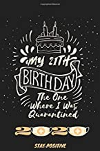 My 21th Birthday The One Where I Was Quarantined 2020: Quarantine Happy Funny Birthday Gifts,21 Years Old 21th Teenager Birthday Notebook Gift Ideas ... notebook,Funny Card Alternative,6*9 120 pages