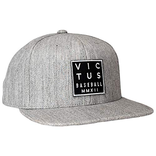 Victus Sports - Victus Square Emblem Gray Fitted Hat (VAHTFES-GY/BK-A)