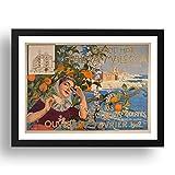 Period Prints Llaverias Labro, Joan - 'Grand Hotel. Arte vintage de Palma de Mallorca, reproducción A3 en marco negro de 17x13 (A3)