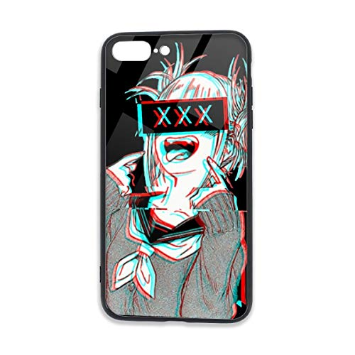 Inspired by My Hero-Academia Himiko-Toga for iPhone 7 Plus Case iPhone 8 Plus Case TPU Phone Case Fall Resistant Protective Cover Black One Size
