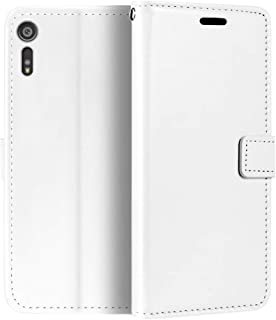 جراب محفظة لهاتف Sony Xperia XZ بغطاء قلاب مغناطيسي من الجلد الصناعي الممتاز مع حامل بطاقات ومسند لهاتف Sony Xperia XZ Dual