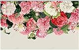 Carta Da Parati 3D Fotomurale Fondo Rosso Della Pianta Della Foglia Verde Del Fiore Di Arte Carta Da Parati Moderna Muro Poster Murales 400x280cm