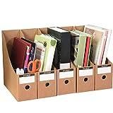 AFDK Bürobedarf Lagerregal, Aktenschrank Aktenhalter Magazinrahmen Kraftpapier Schreibtisch-Aufbewahrungsbox Aktenschrank, Schwarz,Orange