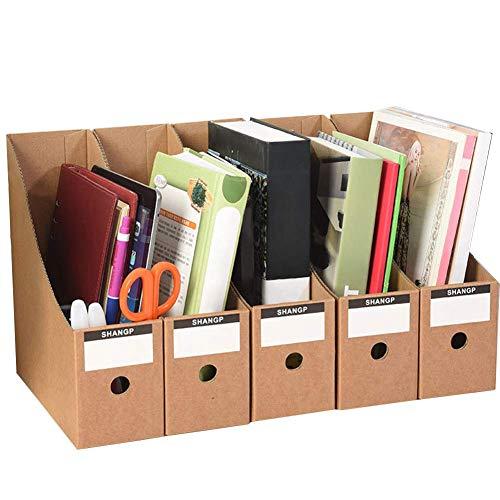 HYZXK Cartella Documenti per Cartelle Scaffale Verticale Formati di File Semplici Pappmagazine Compilare Il Lavoro di Ufficio Organizzatore Portapenne Desktop Cancelleria Rackbox,Marrone