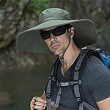 VooZuGn Unisex Adulto UPF 50+ Sombrero De Sol Al Aire Libre Plegable Secado Rápido Transpirable Multiusos...