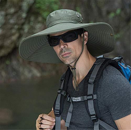 VooZuGn Unisex Adulto UPF 50+ Sombrero De Sol Al Aire Libre Plegable Secado Rápido Transpirable Multiusos para El Gorro Pescador Anti-UV El Verano Hat Hombre Mujer Womens Camuflaje