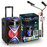 Portable Karaoke Machine for Adults and Kids, Ankuka Bluetooth PA Speaker Sound System...
