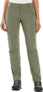 Anteef Women's Hiking Pants, Outdoor Elastic Wasit Quick Dry Stretch UPF 50 Zipper Pockets Capris