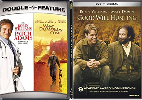Good Will Hunting & Robin Williams Set [DVD] 2 Pack Patch Adams & What Dreams May Come Movie Set
