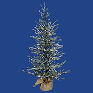vickerman 30″ unlit frosted angel pine artificial christmas tree silk flower arrangements