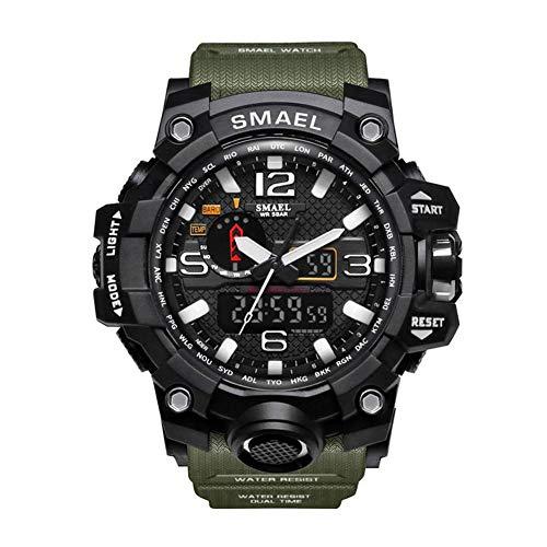 332pageann smartwatch uomo, Orologi sportivi smartwatch doppio schermo Analogico Digitale A LED elettronico AL Quarzo Orologi Bracciale impermeabile nuoto militare Watch