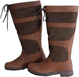 TEFANESO Women's Waterproof Leather Country Riding Boots w/Free Carrying Bag