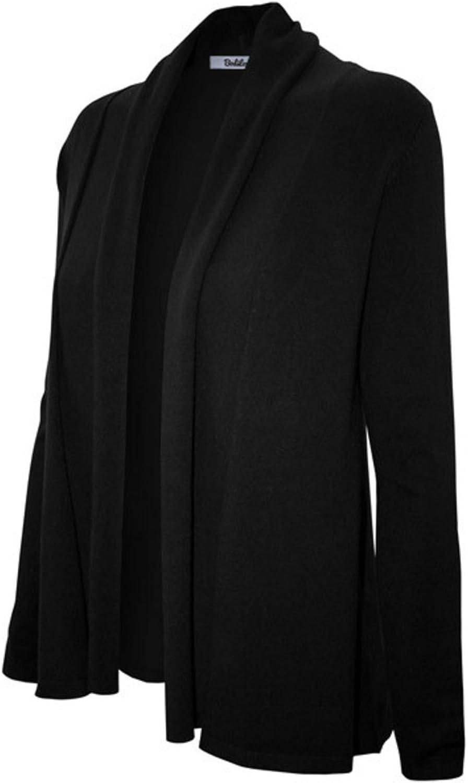 2LUV Women's Long Sleeve Open Front Shawl Knit Cardigan