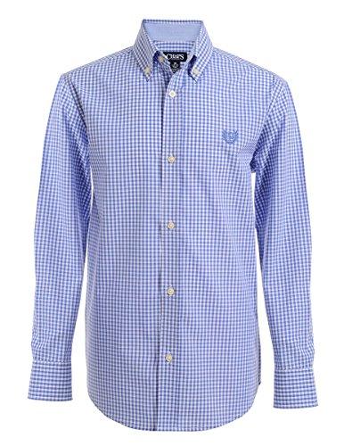 Chaps Boys' Little Long Sleeve Plaid Button-Down Woven Shirt, Scottsdale Gingham, 7