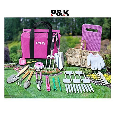 49 teiliges Gartenwerkzeugset mit Korb und Tasche Geschenkideen