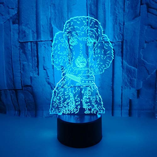 Colorful 3d visual lamp for puppies LED colorful touch creative tabletop Usb night lamp with bleach function night light