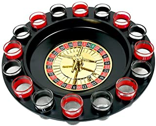 Smartcraft Drinking Roulette, Drinking Game Set (2 Balls and 16 Glasses) Casino Style Drinking Game