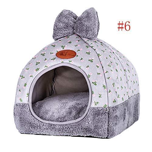 Roblue Hundebett für Hunde und Katzen, Form einer Jurte aus Stoff, mit Teppich, faltbar, warm, waschbar, für Herbst und Winter