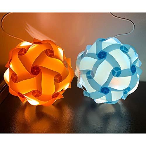 Gpure Tulipas para Lamparas de Iluminación Colgante Puzzle DIY de Plástic 40cm Esférica 7 Colores Creativo Juguetes Infantiles y Adulto Divertido (A)