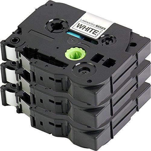 3x Label Tape / Nastro Laminato per BROTHER P-Touch TZe 221 / TZ 221   3x nero sur bianco / 9mm x 8m   compatibile per Brother P-Touch 1000 1010 1090 1830VP 2030VP 2100VP 2430PC 2470 2730VP 7100VP 7600VP H100 H300 D200 e altri dispositivi P-touch